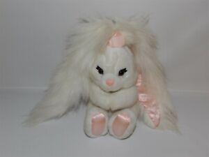 "RARE Vintage 7"" Applause White HAIR BRUSH Plush BUNNY Rabbit #53270 No Brush"