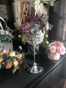💐Nice artificial flowers In High Candle Holder