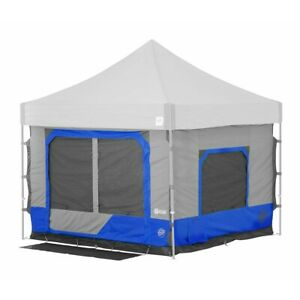 E-Z UP Camping Cube 6.4 Converts 10' Straight Leg Canopy into large Camping Tent