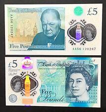 England Great Britain 5 Pounds (2016) New Prefix AA Polymer QEII - UNC