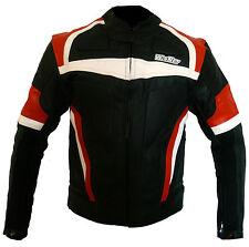 Italienne blouson veste moto en cuir vetements NEUF XL XXL 3XL ORANGE 52 54 56