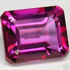 6,03 ct  Raspberry Pink Topaze - Emerald cut - VS