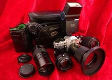CHINON PENTAX DP5 SYSTEM 4 LENS 28-210mm FLASH + EXTRAS