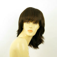 mid length wig for women chocolate copper wick ref VANILLE 6h30 PERUK