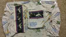 VINTAGE STAR WARS 3 pc TWIN Bed SHEET SET Top Fitted & Pillow Case NABOO BRAVO