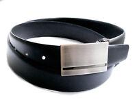 Rindleder Herrengürtel Koppelschließe schwarz 35 mm - 95 cm lang HGLI723