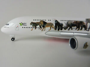 Emirates Airbus Wildlife A380-800 1/500 Herpa 531764 A 380 A380 United Para