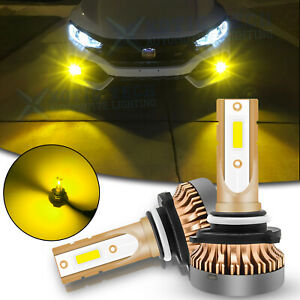 H10 9145 LED Driving Fog Light Bulbs 3000K Golden Yellow Upgrade Super Bright