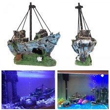 Fish Tank Accessories Supplies Aquarium Decorations Ruins Pirate Ship Wreck Boat