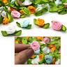 100pcs Small Mini Satin Ribbon Flowers Rose Wedding-Decor Sewing Appliques DIY