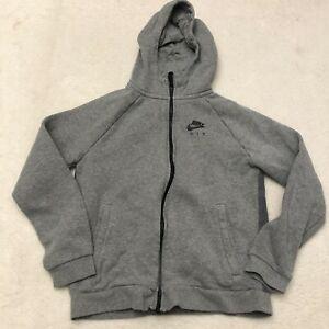 Nike Air Zip Up Hoodie Youth Large Gray