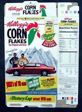 Kellogg's Corn Flakes Flattened Cereal Box 1996 Darrell Waltrip Terry LaBonte
