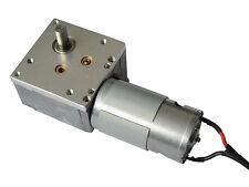 6V 12V DC alto esfuerzo de torsión orientados Worm motor eléctrico de 595 98:1, caja de cambios de mano derecha