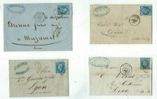 Four 1864-70 France FL's,  20c Napoleon from Troyes & Montpelier Advertising c/c