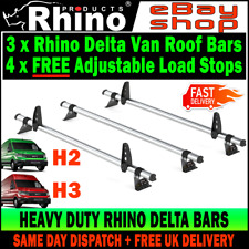 (L3-STANDARD H2-H3) 3x MAN TGE Roof Rack Bars (NO T-TRACK) Rhino Delta 2017-2019