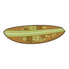 Magnetic Bumper Sticker - Surfboard (Hawaiian Flowers, Green) - Magnet