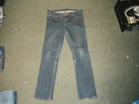 "Denim Co Slim Leg Jeans Size 14 Leg 31"" Faded Dark Blue Ladies Jeans"