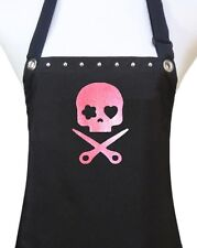 Black Scissors PINK Skull hair cutting stylist salon waterproof apron