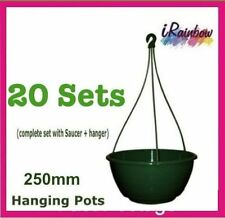 Hanging Basket Pot 250mm with sauce x 20pcs  - Indoor / Outdoor Plant or Herbs