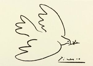 Dove of Peace by Pablo Picasso Art Print Poster Bird 19.75x27.5