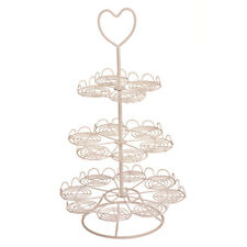Cupcake Stand Cream Wire 3 Tier 18 Cups Display Rack Party Birthday Holder