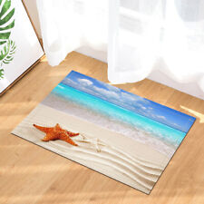 Beach Starfish Wave Bath Mat 40x60cm Bathroom Non Slip Door Shower Rug