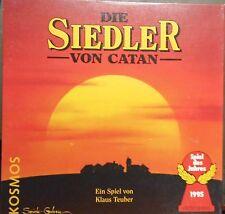 DIE SIEDLER VON CATAN  GRUNDSPIEL  HOLZ + Ansteckpin, Diskette  usw.