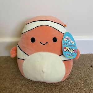"""Squishmallows Ricky The Clownfish   Nemo Lookalike! New With Tags   7/8"""""""