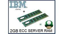 2gb (2x1gb) Memoria RAM upgrade para Ibm Eserver Xseries 206 millones & 306m sólo