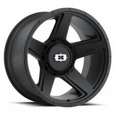 """20"""" Vision 390 Empire Black Wheel 20x9 6x135 6x5.5 12mm Chevy GMC Ford 6 Lug Rim"""