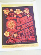 QUICKSILVER & BIG BROTHER at the AVALON Psychedelic Concert Poster FD036