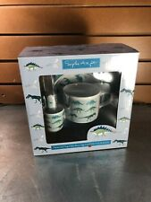 Kid's Sophie Allport Blue Melamine 7 Piece Dish Set- Dinosaurs- New In Box