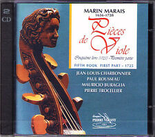 Marin MARAIS Pieces De Viole Book 5 Part 1 Jean-Louis Charbonnier 2CD ARION Neu