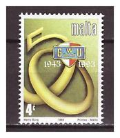 37916) Malta 1993 MNH Labour Association 1v