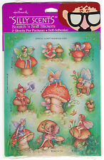 Vintage HALLMARK Silly Scents Scratch & Sniff Stickers: Mushroom Scented Pack