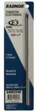 Radnor 3/32'' x 7'' Ground Finish E3 Tungsten Electrode (2 Per) Ewg 64002248