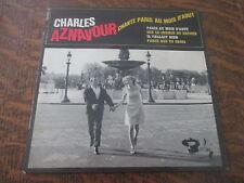 45 tours charles aznavour chante paris au mois d'aout
