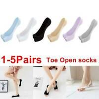 1/5x Women Toeless Peep Toe Open Toe Flip Flops Sandal Socks Footsies Liner T2W8