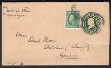 486 US TO GERMANY PS STATIONERY WRAPPER 1905 BROOKLYN - EBERTHEIM