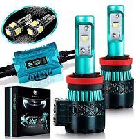 Glowteck H11B  LED Headlight Bulbs Conversion Kit Cree XHP50 Chip Super Bright