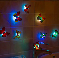 1X Mini 7 Color Changing Luminous Beautiful Cute Butterfly LED Night Light Lamp