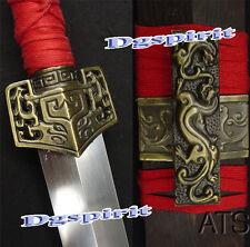 "40.6"" Sharp Battle Ready Hand Forged Chinese Han Sword Jian"