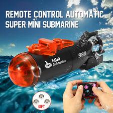 Mini Micro Radio RC Submarine Ship Boat Infrared Remote Control With LED Light