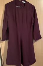 Tommy Hilfiger Meg A Line Dress Plum Size UK 14