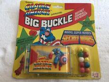 Vintage Captain America Official Big Buckle Gumball Dispenser
