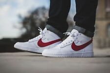 NIKE MEN'S DUNK LUX CHUKKA/ RT SNEAKER WHITE/DISTANCE RED SIZE 8US