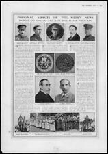 1916 Antique Print - WORLD WAR Powell Cholmeley Keith Holmes Dawson Ramsay (152)
