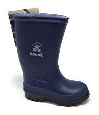 Kamik Stomp Rubber Rain Boot Waterproof Navy Blue Toddler Size 6 M US
