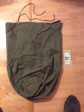 Authentic 1960's US Army Green (Vietnam) Waterproof Duffle Bag With Cords-Large
