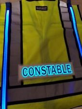 ANSI 2 Illuminated LED Safety Vest Constable ID Panel Lime Green High Visibility